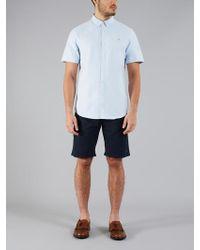 Farah - Brewer Short Sleeve Shirt Sky Blue - Lyst