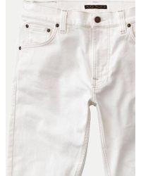 Nudie Jeans Jean Dean Ecru Lean - Blanc