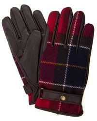 Barbour Newbrough Tartan Handschuhe Rot Tartan