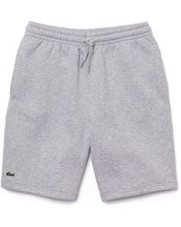 Lacoste Sport Jog Shorts Gh 2136 Silber - Grau
