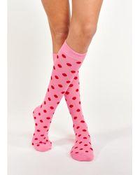 Essentiel Antwerp Abushka Dotted Socks Pink