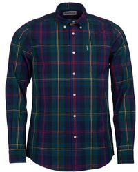 Barbour Camisa Highland Check 9 Tailored Verde - Azul