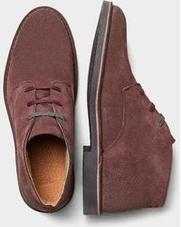 SELECTED Bitter Chocolate Royce Suede Desert Boots - Brown