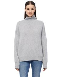 360cashmere Leia Turtleneck In Grey