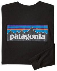 Patagonia Ms L S P 6 Logo Responsibili Tee Black