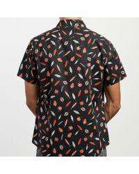 RVCA Camisa con botones de Gerrard - Negro
