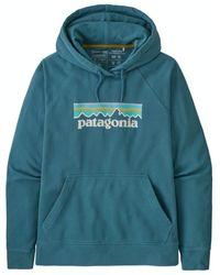 Patagonia Ws Pastel P 6 Logo Hoody 39648 Abb - Blue