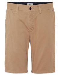 Tommy Hilfiger Tommy Jeans – Essential Chino-Short in Taupe - Natur