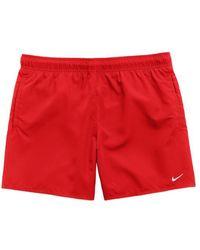 Nike Pantaloncini da bagno Volley rossi - Rosso