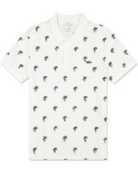 Lacoste X Jean-michel Tixier Polo Shirt White
