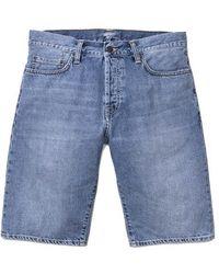 Carhartt Pantaloncini di jeans Klondike Blue Coast Bleached