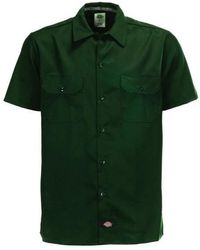 Dickies Camisa Slim Fit Work Army - Verde