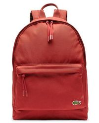 Lacoste Neocroc Canvas Backpack Nh 2677 Ne Red