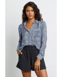 Rails Blue Lynx Shirt