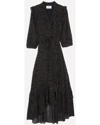 Ba&sh Selena Wrap Dress – Natural - Black