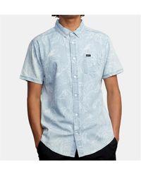 RVCA Camisa de mezclilla Hastings Floral S S - Azul