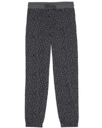 Rails Kingston Cheetah Sweatpants Charcoal - Multicolor