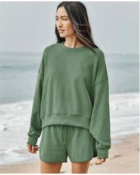 Velvet By Graham & Spencer Https://www.trouva.com/it/products/velvet-by-graham-and-spencer-ajia-palmetto-sweatshirt - Verde