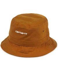 Carhartt Bonnet Script Bucket Hat Camel - Marron