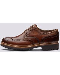 Grenson Deep Tan Archie Brogue - Marrone
