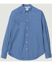 Norse Projects - Blue Osvald Bd Cotton Linen - Lyst