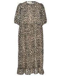 SELECTED Vestido con estampado de leopardo - Multicolor