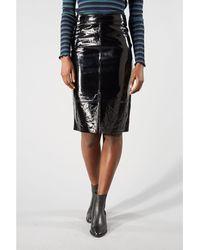 SELECTED Black Patent Hilda Skirt