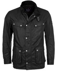 Barbour Duke Wax Jacket Black - Negro