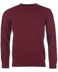 Barbour Rubí Essential de lana de cordero con cuello redondo - Rojo