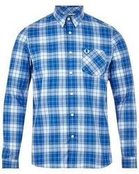 Fred Perry Bold Tartan Shirt Blue - Azul
