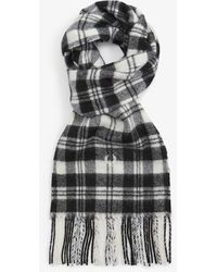 Fred Perry Sciarpa scozzese Mod Scott bianco nero neve - Multicolore