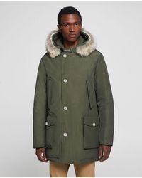 Woolrich Parka ártica de piel desmontable verde oscuro