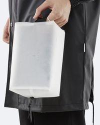 Rains Bolsa de lavado blanco brumoso