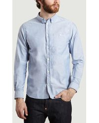 Norse Projects Chemise Oxford en coton Anton - Bleu