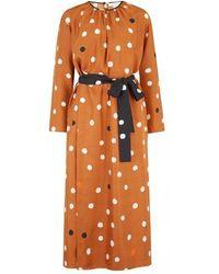 Chinti & Parker Ginger Painted Spot Dress - Orange