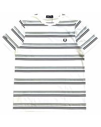 Fred Perry T-shirt à rayures - Blanc