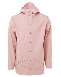 Rains Jacket Short Coral - Pink