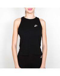 Nike Débardeur Crop Hologram Femme - Noir