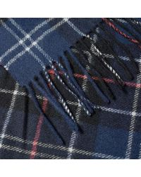 Barbour Barbour Tartan Lambswool Scarf Navy & Red - Blue