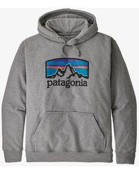 Patagonia Felpa con cappuccio Uprisal Fitz Roy Horizons da uomo - Grigio