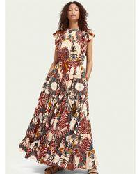 Scotch & Soda Printed Cotton-blend Dress - Multicolor