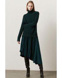 Markus Lupfer Maddie Pleated Skirt Forest Green