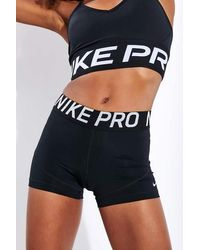 Nike Pantaloncini Pro 3 Neri Bianchi - Nero