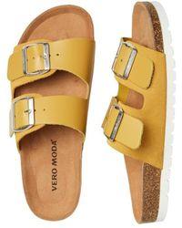 Vero Moda Https://www.trouva.com/it/products/vero-moda-carla-leather-sandal - Giallo