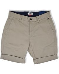 Tommy Hilfiger Tommy Jeans Essential Chino Shorts Stone - Gris