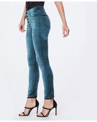 PAIGE Hoxton Ankle Peg Jeans en Velvet Atlantic - Bleu