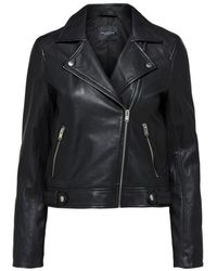 SELECTED Https://www.trouva.com/it/products/selected-femme-katie-black-leather-jacket - Nero