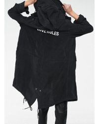 Zoe Karssen Black Hooded Lightweight Parker Jacket