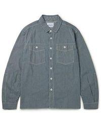 Albam Camisa de trabajo de carpintero Indigo Stripe - Azul