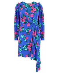 Essentiel Antwerp Blue Floral Puff Sleeve Viesbeth Mini Dress